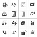Icono del contacto y del web del dispositivo Foto de archivo libre de regalías
