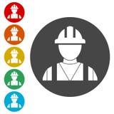 Icono del contratista, icono de los trabajadores libre illustration