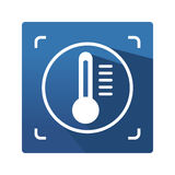 Icono del control de la termografía Foto de archivo libre de regalías