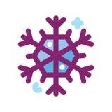 Icono del copo de nieve Fotos de archivo