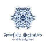 Icono del copo de nieve Imágenes de archivo libres de regalías