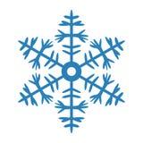Icono del copo de nieve en el fondo blanco Foto de archivo