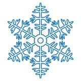 Icono del copo de nieve en el fondo blanco Foto de archivo libre de regalías