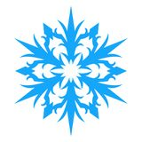 Icono del copo de nieve Illlustration del vector Foto de archivo