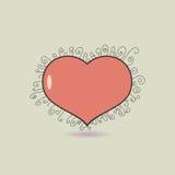 Icono del corazón Imagenes de archivo
