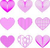Icono del corazón Foto de archivo