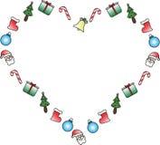 Icono del corazón con símbolos de la Navidad libre illustration