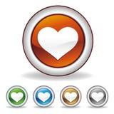 icono del corazón del vector Imagen de archivo libre de regalías