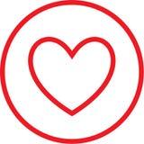 Icono del corazón del vector Fotos de archivo