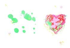 Icono del corazón, icono y ejemplos dibujados mano para el simbol del amor, v Imagen de archivo