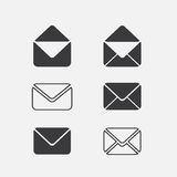 Icono del correo del sobre Fotos de archivo libres de regalías