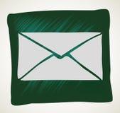 Icono del correo del vector con el fondo blanco Foto de archivo libre de regalías