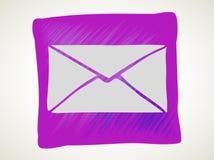 Icono del correo del vector con el fondo blanco stock de ilustración