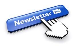 Icono del correo electrónico del botón del hoja informativa Imágenes de archivo libres de regalías