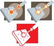 Icono del cortador del laser ilustración del vector