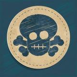 Icono del cráneo del vector Fotografía de archivo libre de regalías