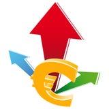 Icono del crecimiento del dinero en circulación Fotografía de archivo