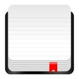 Icono del cuaderno Imagenes de archivo