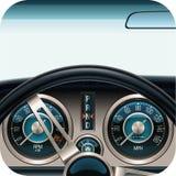 Icono del cuadrado del tablero de instrumentos del coche del vector Imágenes de archivo libres de regalías