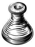 Icono del cubilete o del frasco del vintage Imagen de archivo