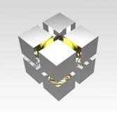 Icono del cubo stock de ilustración