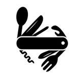 icono del cuchillo de la Multi-herramienta ilustración del vector