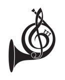 Icono del cuerno de la música Imagen de archivo