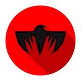 Icono del cuervo Foto de archivo libre de regalías