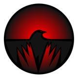 Icono del cuervo Fotografía de archivo