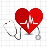 Icono del cuidado del corazón Foto de archivo libre de regalías