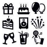 Icono del cumpleaños Foto de archivo libre de regalías