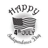 Icono del Día de la Independencia el 4 de julio Cuarto de julio stock de ilustración