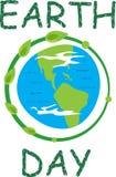 Icono del Día de la Tierra Fotos de archivo libres de regalías