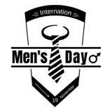Icono del día de los hombres del lazo del traje, estilo simple ilustración del vector