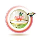 Icono del día de tarjeta del día de San Valentín Imagen de archivo