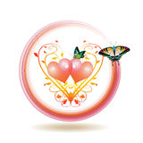 Icono del día de tarjeta del día de San Valentín Fotos de archivo