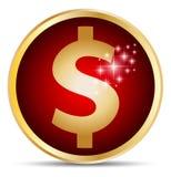 Icono del dólar Imágenes de archivo libres de regalías