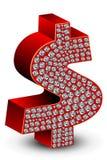 Icono del dólar del diamante Fotos de archivo