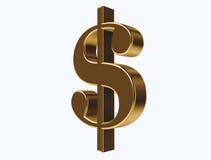 Icono del dólar del oro Fotos de archivo libres de regalías