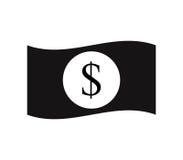 Icono del dólar ilustrado Imágenes de archivo libres de regalías