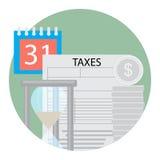 Icono del día del impuesto Fotos de archivo libres de regalías