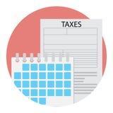 Icono del día del tiempo del impuesto Fotografía de archivo