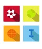 Icono del deporte con vector del fondo Foto de archivo libre de regalías