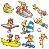 Icono del deporte de agua de la historieta Fotos de archivo libres de regalías