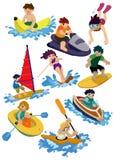 Icono del deporte de agua de la historieta Foto de archivo