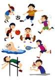 Icono del deporte de la historieta Imágenes de archivo libres de regalías