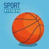 Icono del deporte del globo del baloncesto ilustración del vector