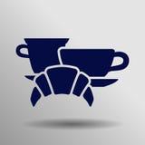 Icono del desayuno Imagen de archivo libre de regalías