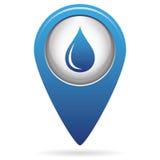 Icono del descenso del agua Imagen de archivo