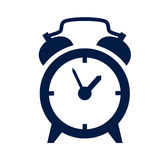 Icono del despertador Foto de archivo libre de regalías